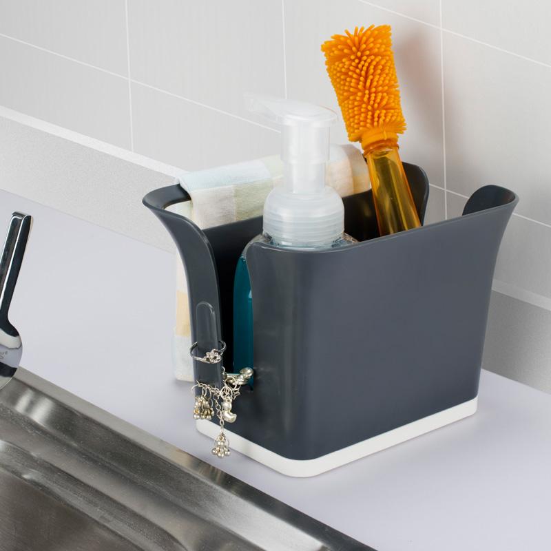 納川廚房多 置物架海綿瀝水架 家用餐具碗筷收納盒雜物整理盒