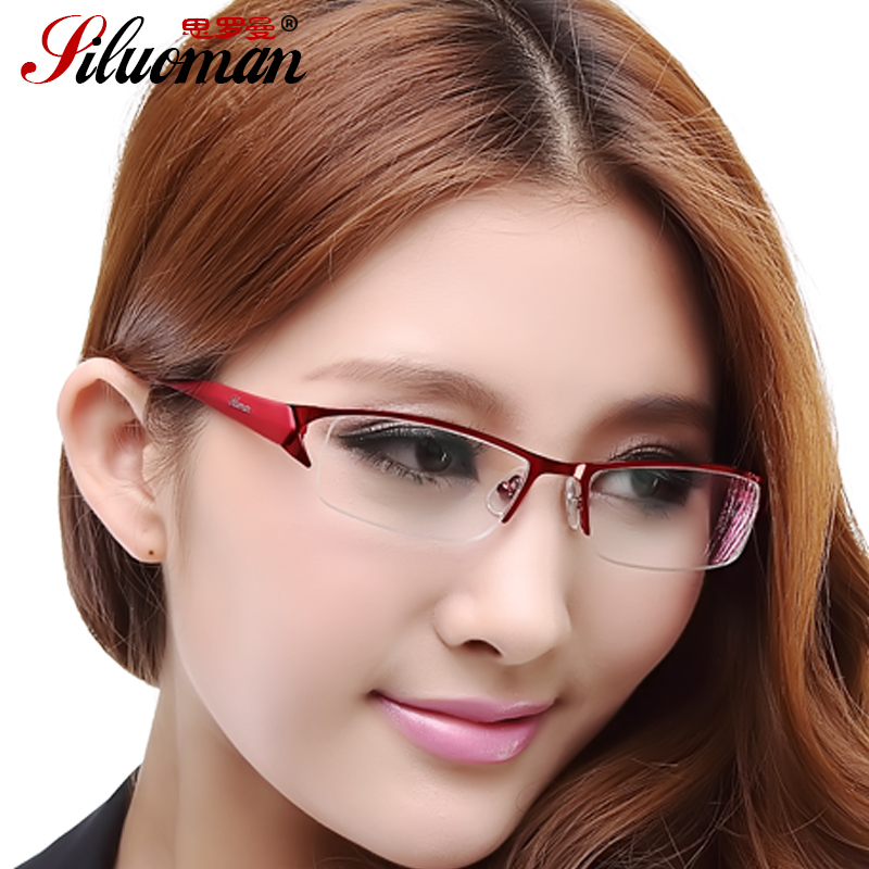 Half frame spectacle frame myopic glasses female spectacle frame male round face ultra light eye frame optical myopia frame female TR90