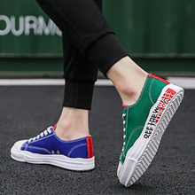 2019 New Trend Students Personality Canvas Shoes Men's Summer Harbour Wind Low Band Breathing Leisure Men's Skate Shoes