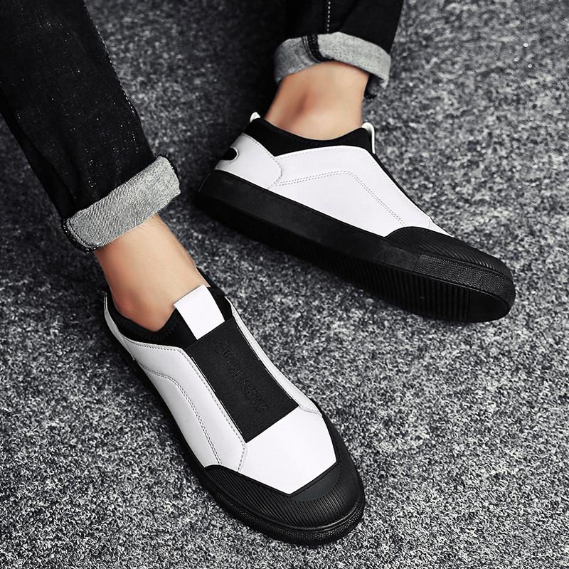 秋季懒人鞋休闲板鞋男帆布鞋潮流透气老北京布鞋子青少年豆豆男鞋