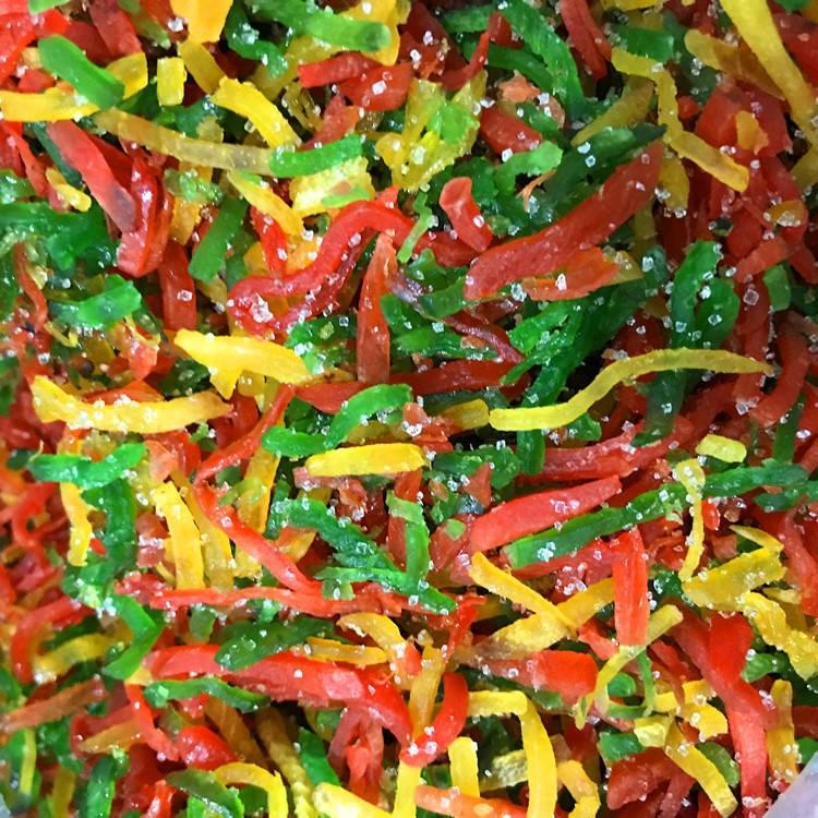冰粉配料红绿丝青红丝条三色八宝饭配料三丝糖果脯炒冰配料500g
