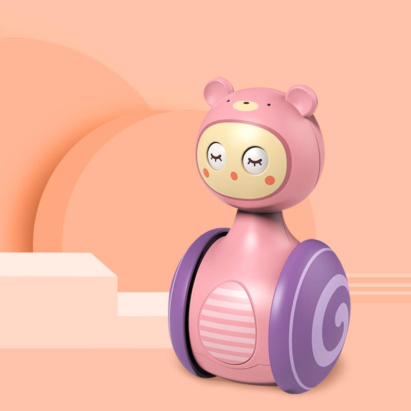 儿童滑行眨眼不倒翁3-6-9个月宝宝早教0-1岁小孩益智婴儿益智玩具