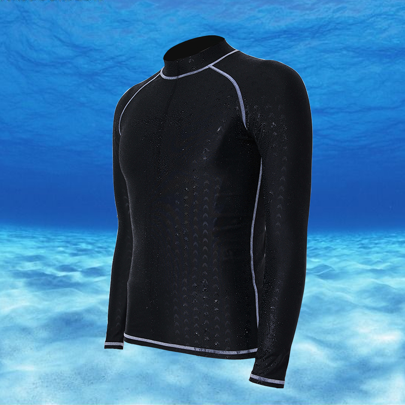 Professional authentic diving suit long sleeve sun proof waterproof shark skin swimming suit top mens and womens surfwear diving suit