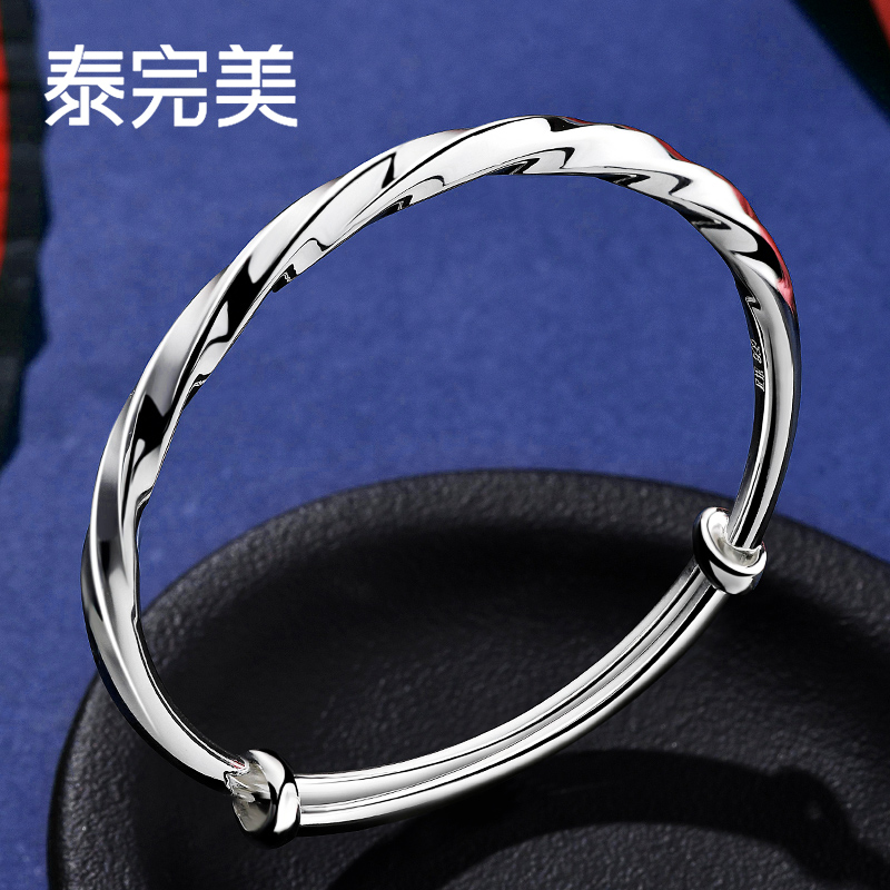 Thai perfect Mobius ring silver bracelet womens Sterling Silver Jewelry Net red Japanese and Korean solid 999 Sterling Silver Bracelet
