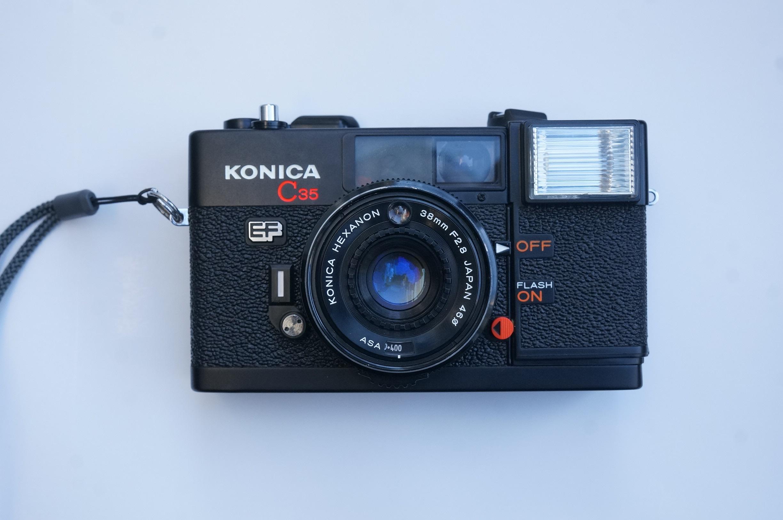 KONICA C35 EF фильм камера рядом ось дурацкий дыня начиная большой апертура