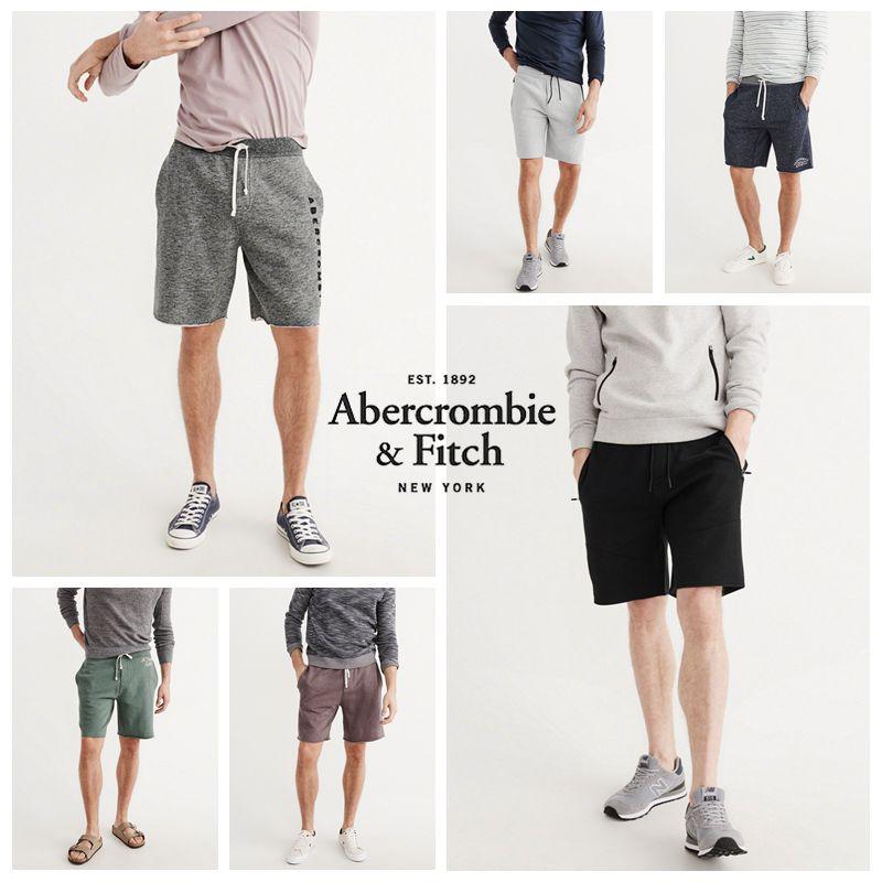 Abercrombie Fitch美国AF男新款抓绒运动修身小鹿短裤薄夏短卫裤