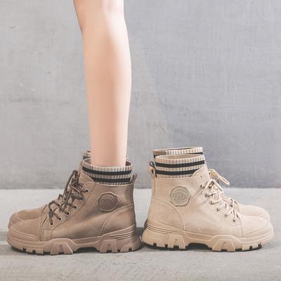 马丁靴女靴子秋冬季2019新款英伦风百搭潮鞋加绒女鞋帅气瘦瘦短靴
