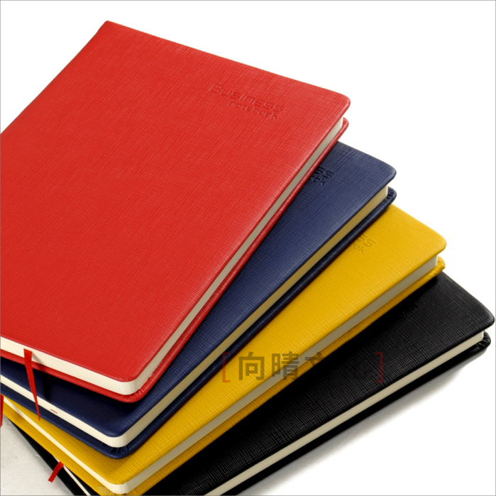Stationery notebook b5a5 hard leather color red simple Notepad business office work book customization