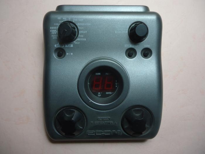 Эффекты ZOOM G1, используемые электрогитарными эффектами