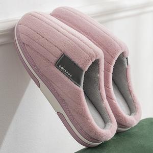 毛毛鞋女冬天外穿棉拖鞋女冬季家居家用保暖包跟可爱厚底加绒棉鞋