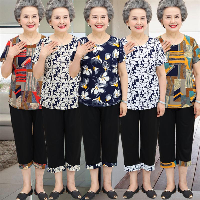 老年人 女装 夏装套装