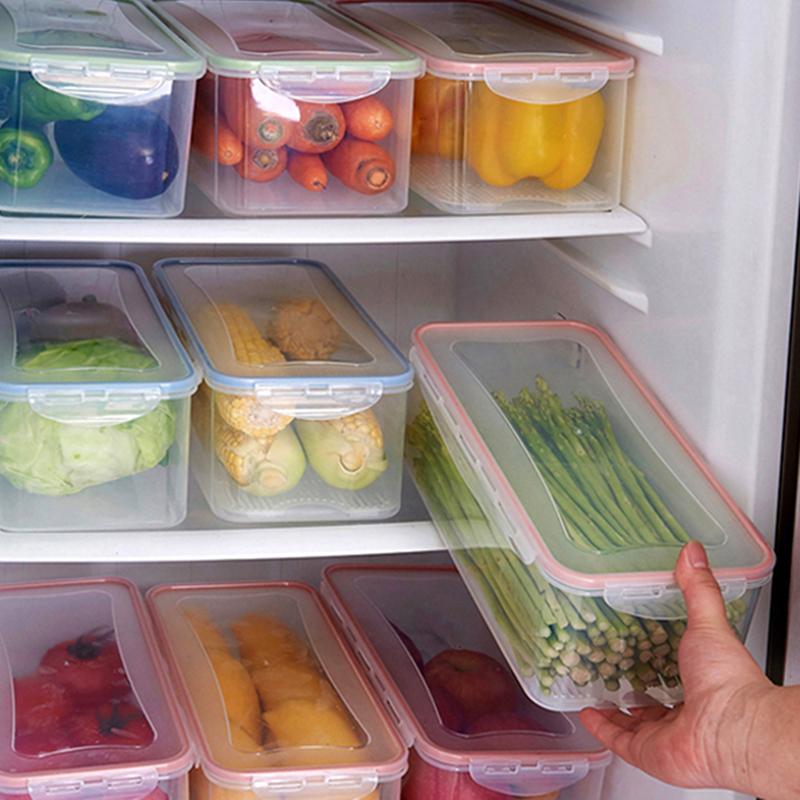 盒子加厚家用泡菜方便水果盒盖子食品级保鲜盒塑料长方形带盖家庭