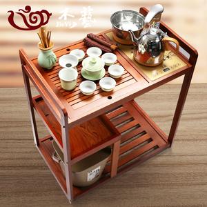 移动茶台实木茶车简约家用小茶桌柜茶盘茶具全自动烧水壶套装