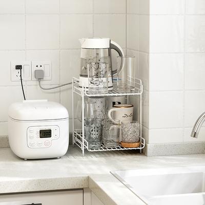 御仕家台面多层厨房调料零食置物架家用杯子收纳神器桌面文件架子
