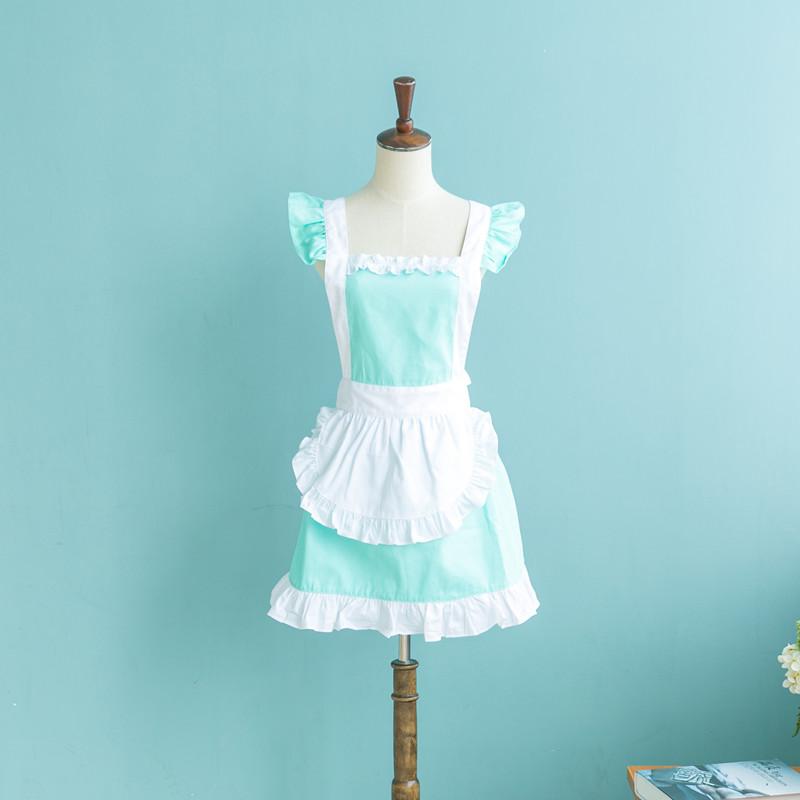 包郵 純棉圍裙  圍裙 可愛公主圍裙 工作服廚房圍裙奶茶店