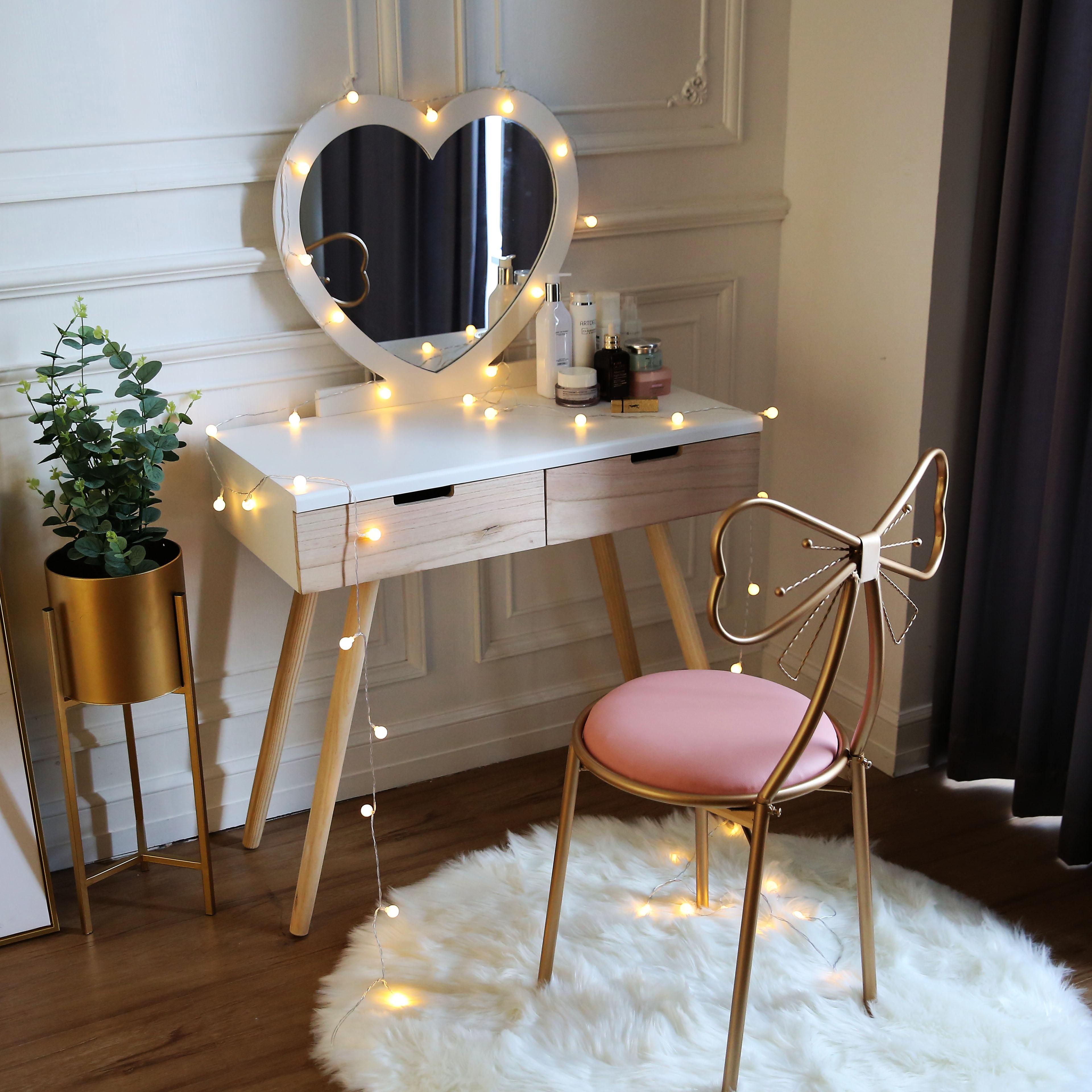 Нордический стиль комод принцесса мини соус небольшой квартира спальня простой чистый красный ins ветер составить стол экономического типа