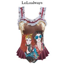 Lualways/I Love Lulu Lotus Leaf Side Linkage Swimsuit HKA5006