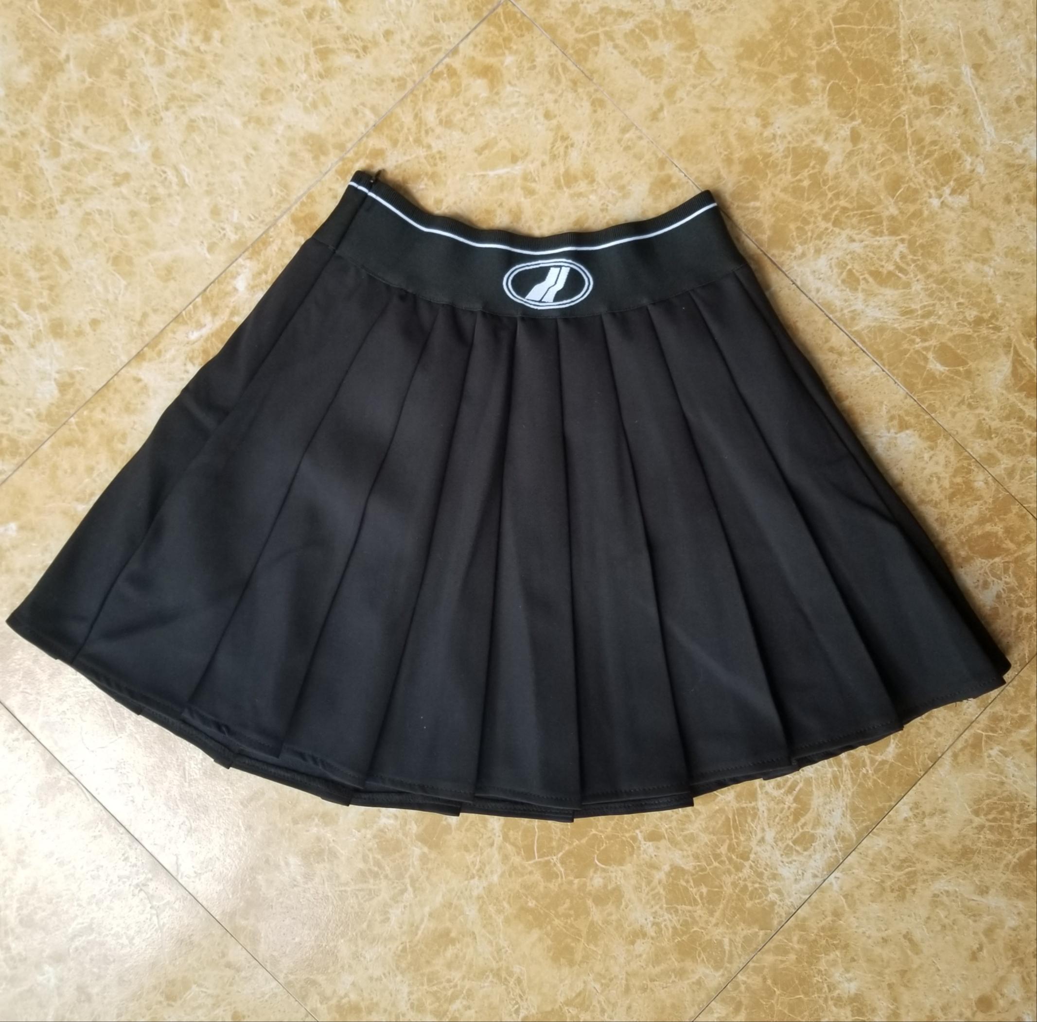 摩歌A777欧洲站秋季新款女松紧腰显瘦半身裙百褶百搭防走光短裙潮