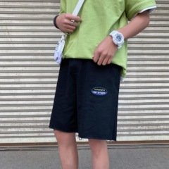 A129-K906 特价P35 控48 2020新款短裤男生港风宽松直筒五分中裤