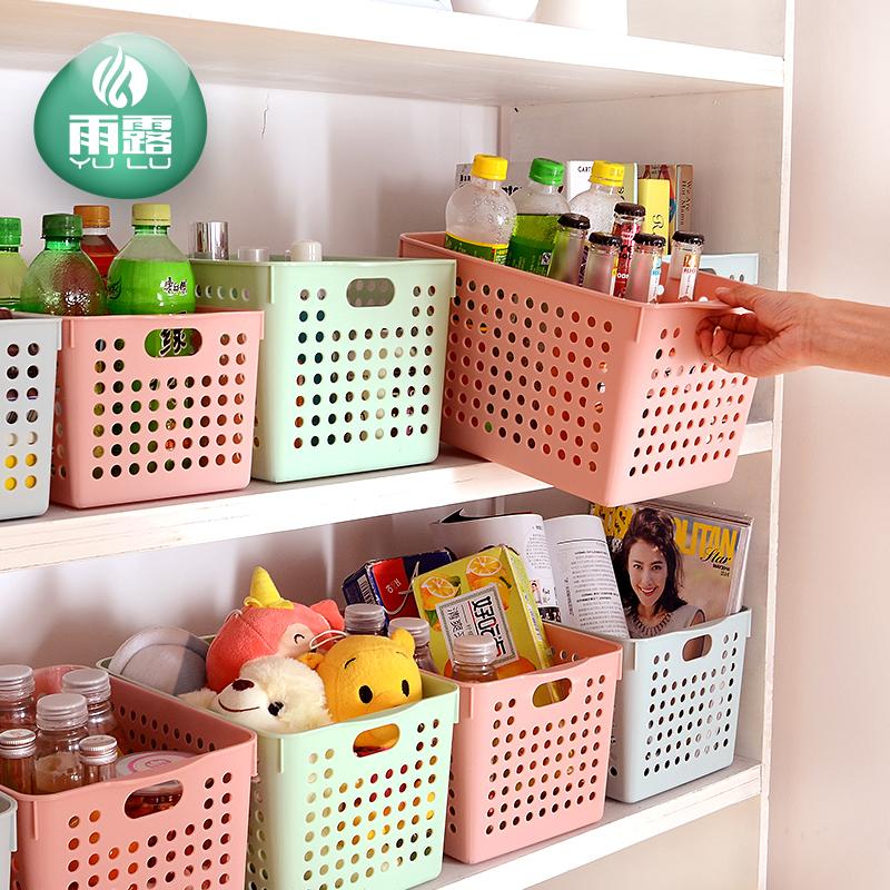 Пластмассовая корзина для хранения организовать корзины для хранения закуски столовая верхняя корзина для хранения кухонная коробка мусорная коробка прямоугольная синий