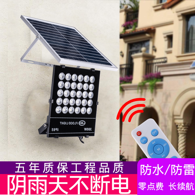 Solar lamp, outdoor lighting, courtyard lamp, new countryside, indoor household super bright projection lamp, street lamp, LED projection lamp