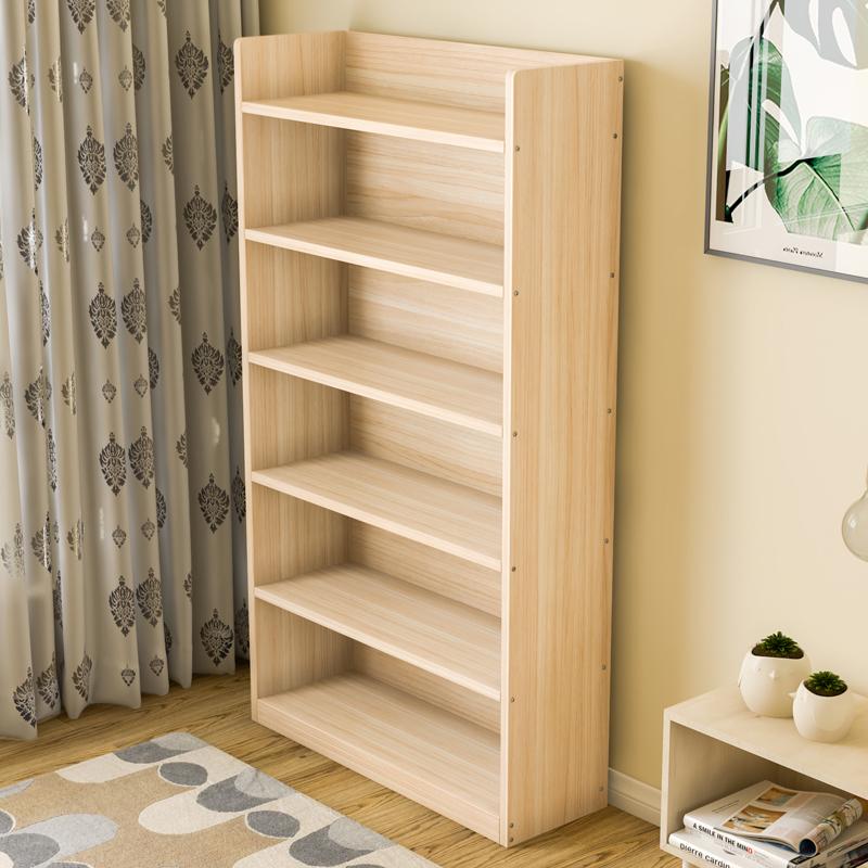 实木书架落地客厅卧室简易小书柜子好用吗