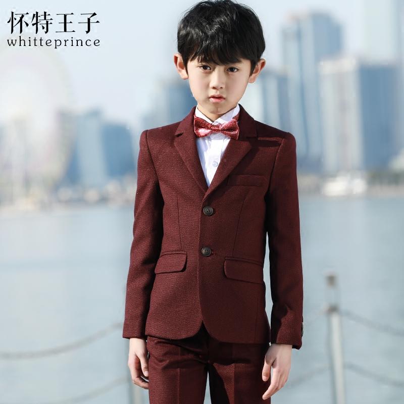男童西装套装小男孩中大童韩版花童礼服男儿童西装外套男童礼服春