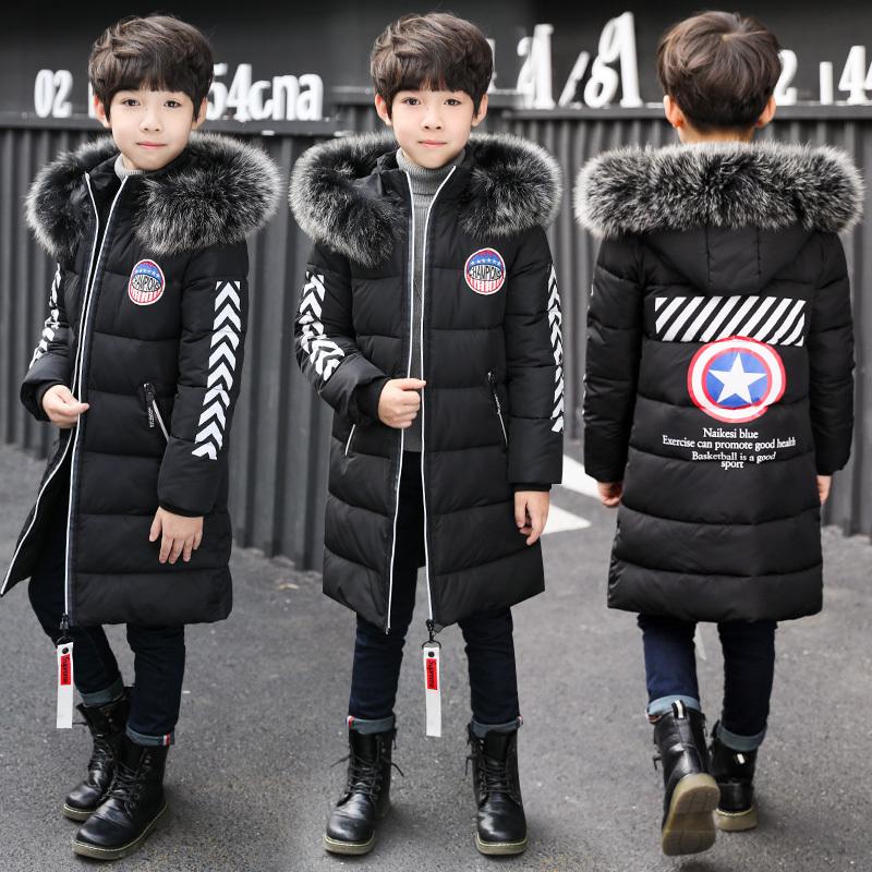 男童棉衣2019新款外套中大童儿童韩版中长款棉袄冬装加厚羽绒棉服