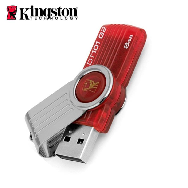 正品金士頓DT101G2金屬旋轉8gu盤定製刻字USB2.0優盤8GB 包郵