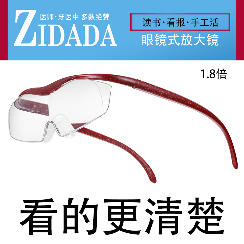 Magnifying glass eye lens wearing glasses magnifying glass old man reading newspaper mobile phone eating chicken Jedi survival zidada