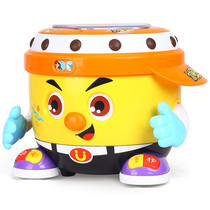 Huijia Baby hand Pat baby toy music drum early teach puzzle Pat Drum 1-3 year old toddler child dj Ah Gu