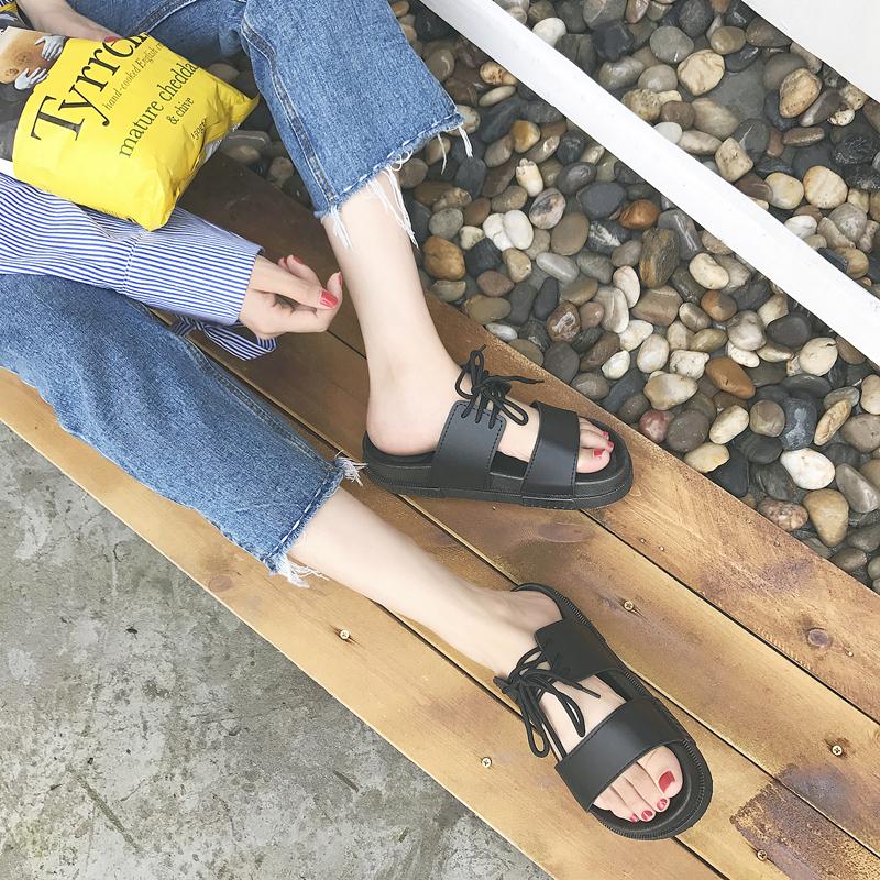 Тенденция лето половина шлепанцы мужской и женщины слово торможение прохладно торможение корейский скольжение любители песчаный пляж обувной вьетнам сандалии индивидуальный характер обувной