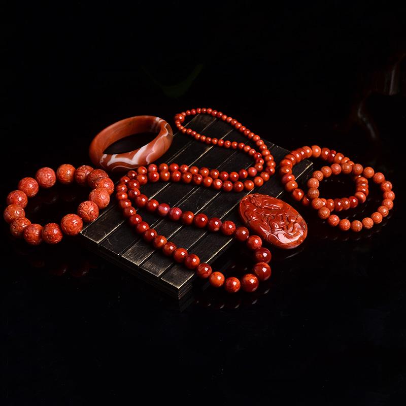 洪晶珠宝天然南红手链手串吊坠雕刻件戒指可附证书直播专拍