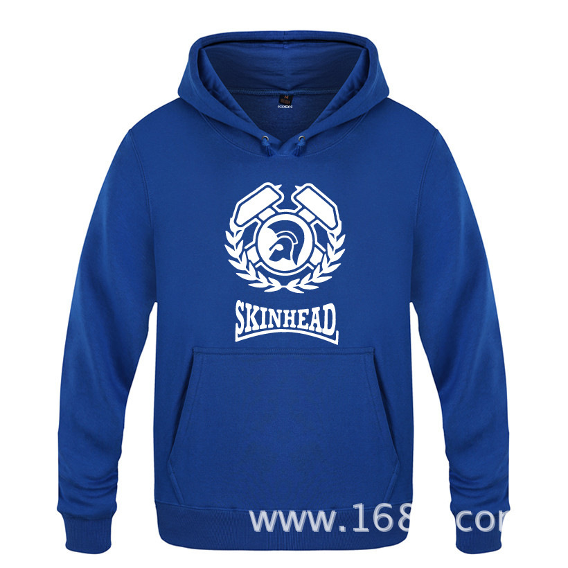 Fleece mens Hoodie Hoodie, Hoodie, skinhead letter, European and American skinhead manufacturer direct sales