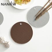 家用餐垫隔热垫厨房耐热锅垫圆形菜盘垫碗垫子防烫加厚桌杯垫硅胶