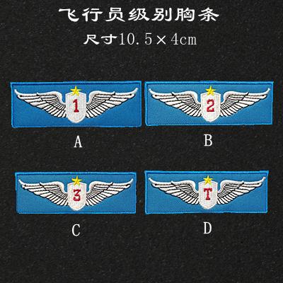 中国航天飞行员级别夹克皮衣胸标纪念徽章臂章魔术贴定制背贴logo Изображение 1