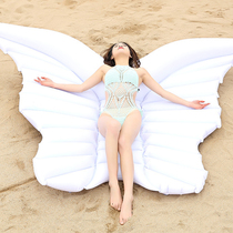 Angel wings inflatable floating bed butterfly floating angel wings Water Swimming Circle Seaside Beach Resort