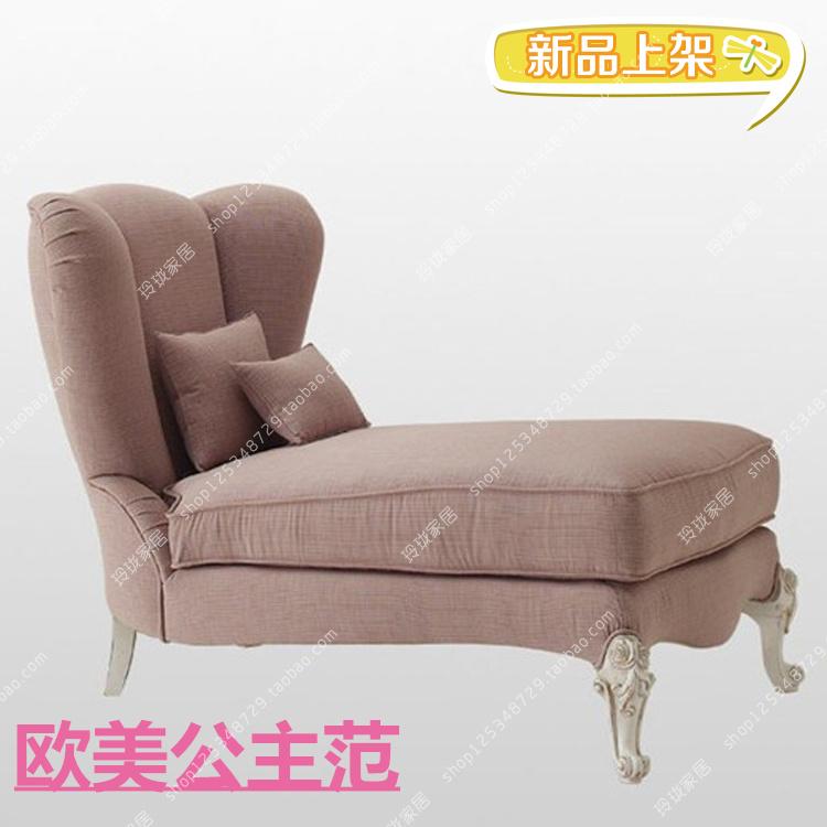 Континентальный простой двойной королевский диван американский спальня красота диван принцесса шезлонг розовый балкон бездельник диван новый