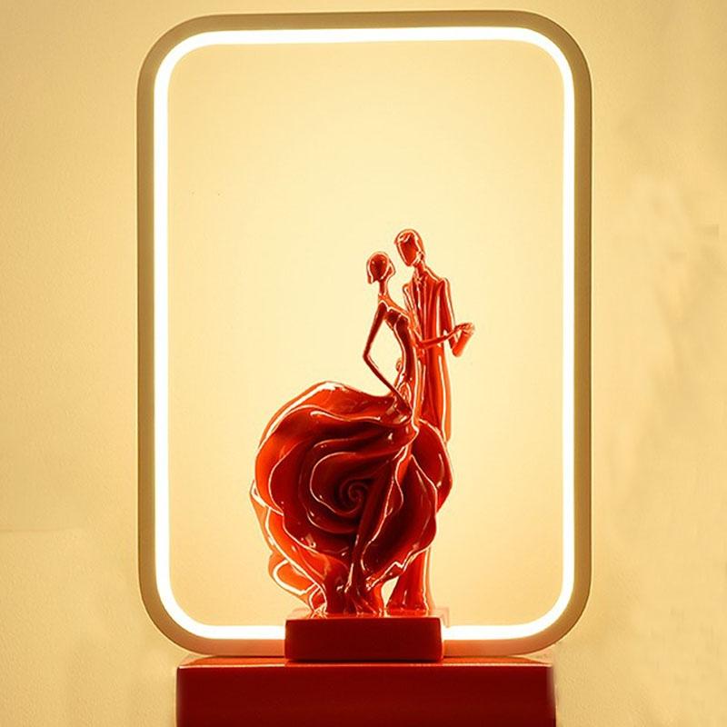 喜庆礼物床头卧室浪漫婚房用品摆件新娘陪嫁装饰长明红色结婚台灯