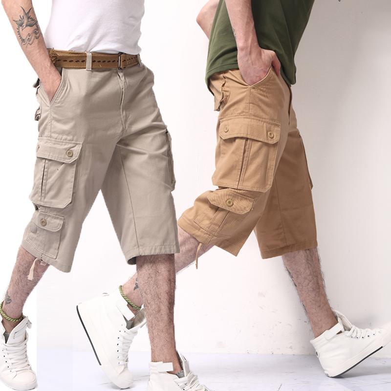 天天特价七分裤男夏季短裤青年休闲裤大码户外工装裤宽松直筒中裤