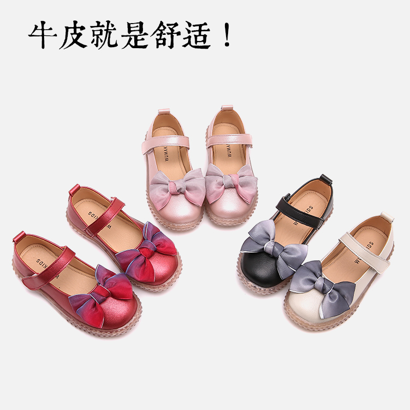 Girls' shoes, children's shoes, spring and autumn 2020 new single shoes, soft soles, Korean version, fashionable middle and big children's little princess shoes