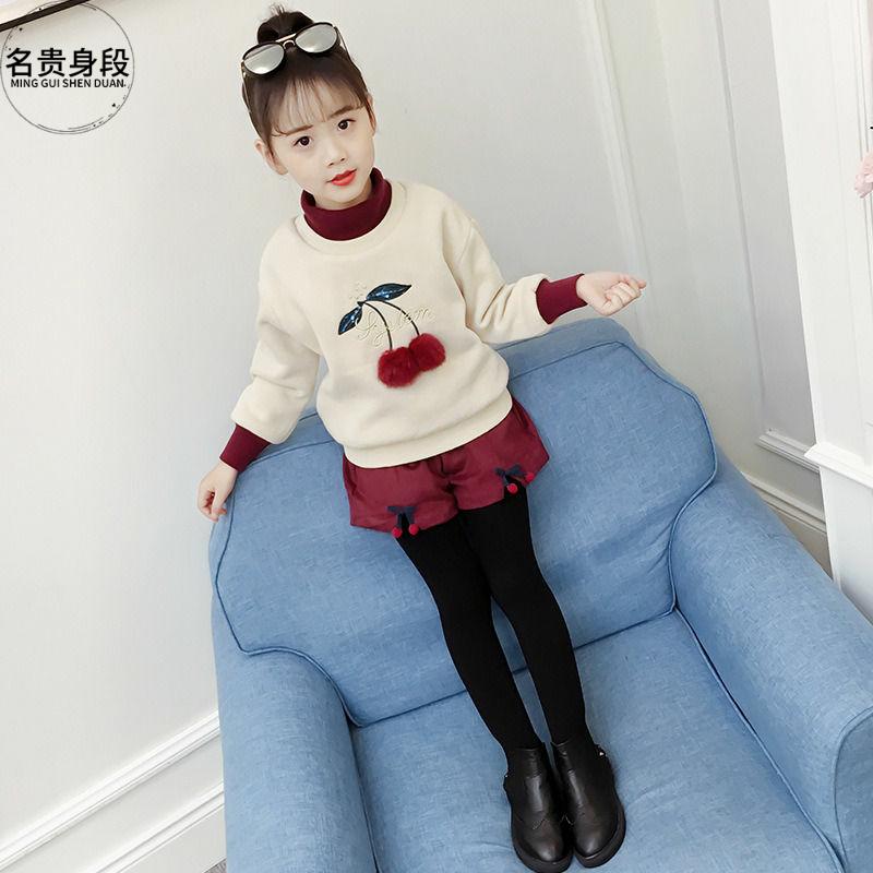 女童冬季套装2020新款韩版加厚卫衣