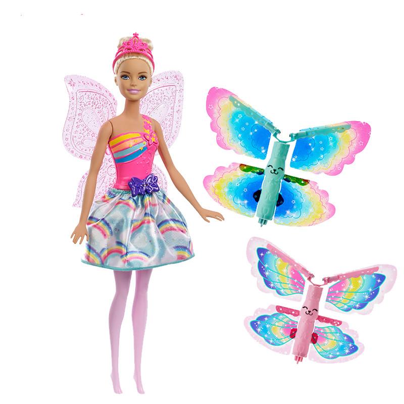 109.00元包邮barbie娃娃套装童话换装组女孩玩具