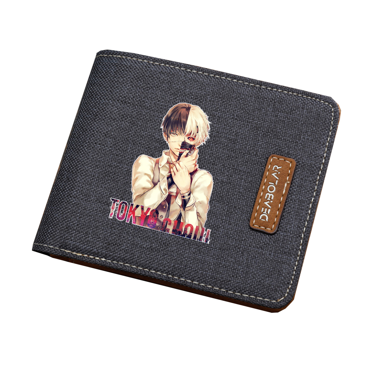 Anime Tokyo Ghoul wallet mens and womens folding wallets peripheral binary secondary wallet youth short Wallet