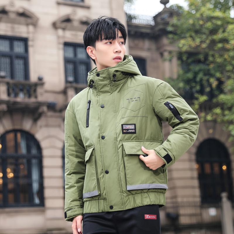 Down jacket mens short 2020 new fashion brand tooling outdoor sports reflective mens winter jacket fashion