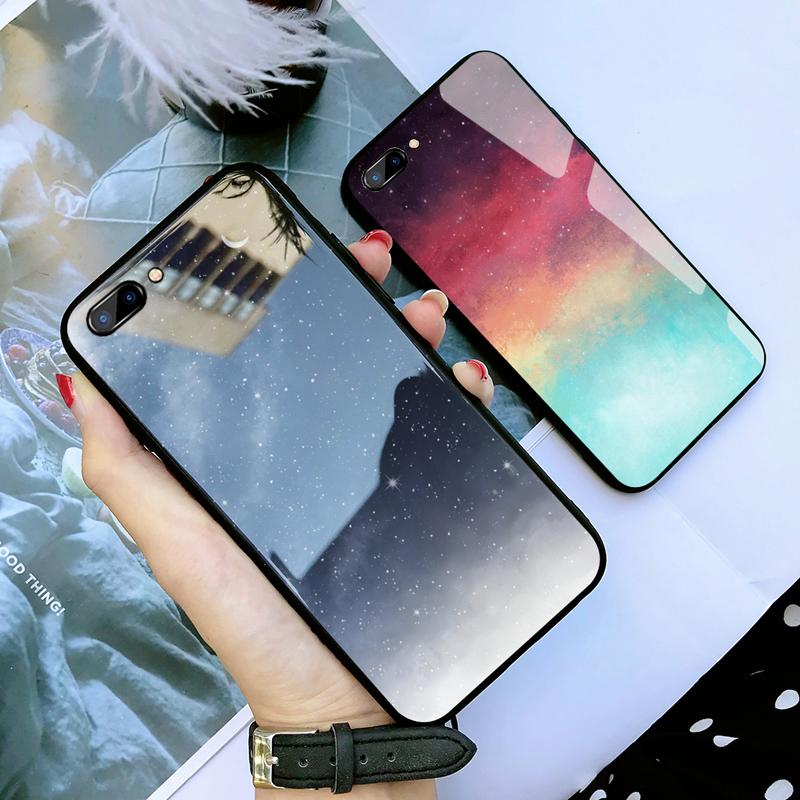 苹果7plus手机壳玻璃iphone8plus手机壳男女款网红苹果7壳潮镜面苹果(非品牌)