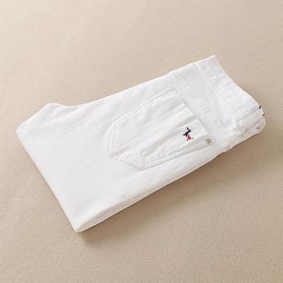 JP322 6095 P170 2017春夏高档薄款时尚白色男士牛仔裤 可推广