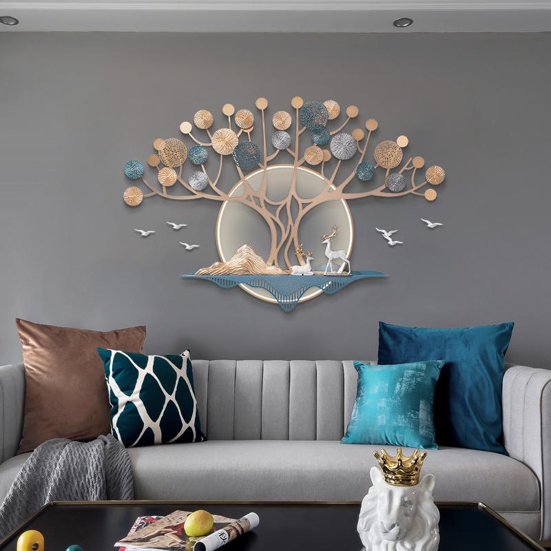 现代轻奢客厅壁饰电视上墙面装饰画质量好不好