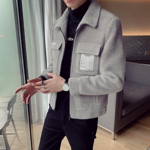 领10元券购买2019新款风衣短款韩版修身毛呢大衣