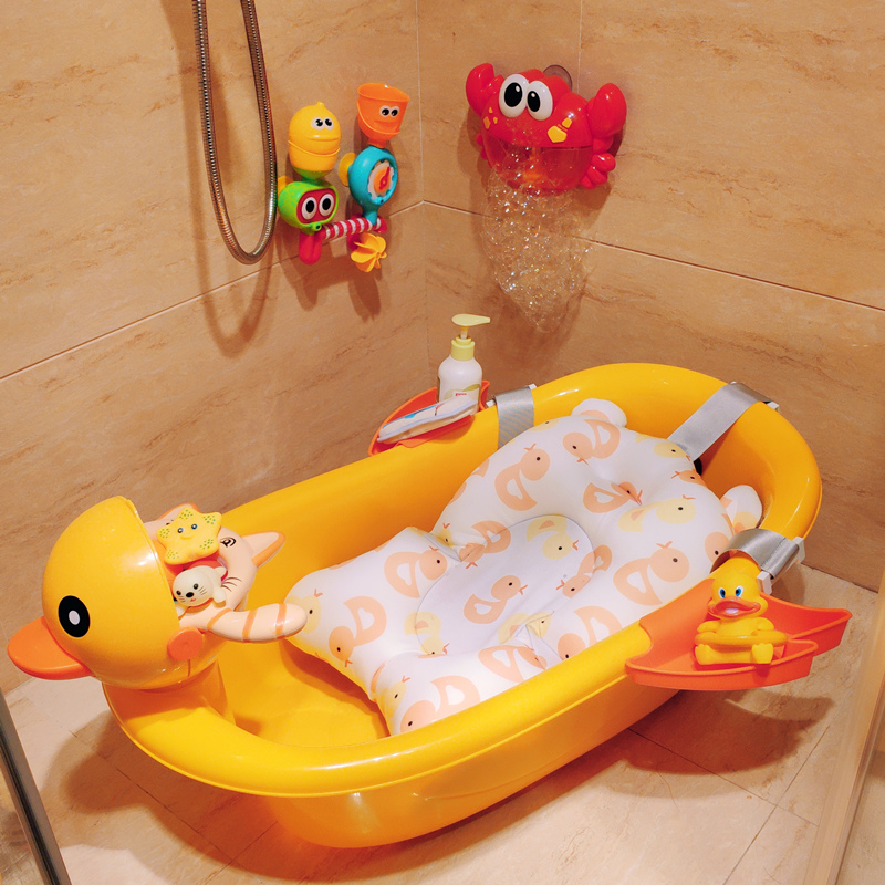 感温洗澡盆宝宝可坐躺卡通沐浴桶